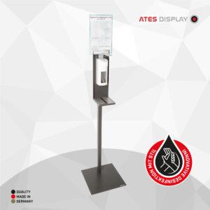 Hygienestation 1 mit Ellbogenspender aus Kunststoff