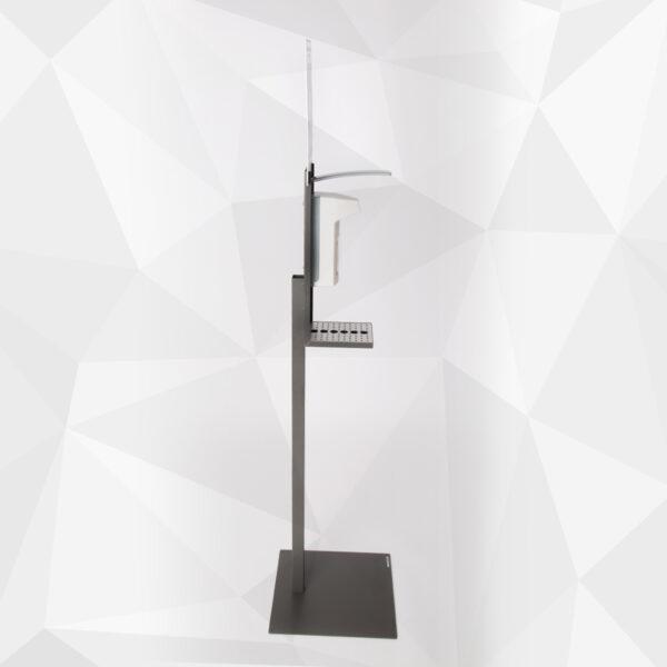 Hygienestation 1 mit Ellbogenspender aus Kunststoff Profil