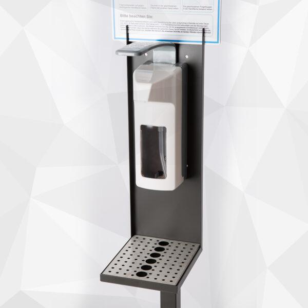Hygienestation 1 mit Ellbogenspender aus Kunststoff Details