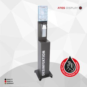 Hygienestation 2 mit Ellbogenspender aus Edelstahl