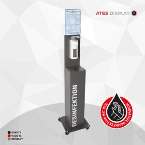 Hygienestation 2 mit Ellbogenspender aus Kunststoff