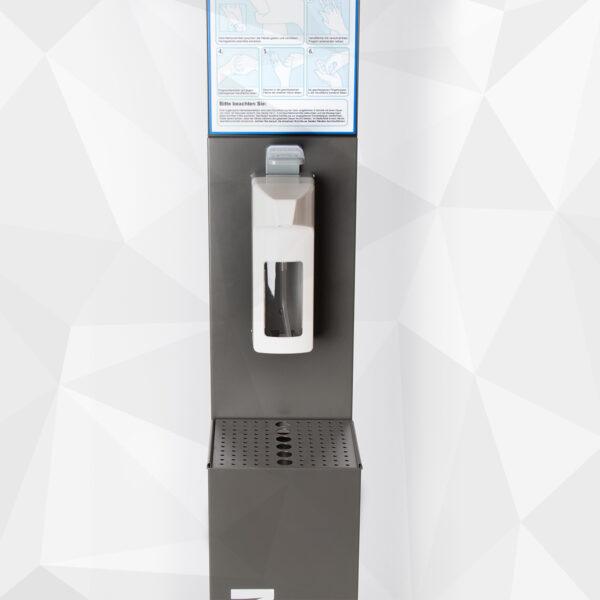 Hygienestation 2 mit Ellbogenspender aus Kunststoff Close-up
